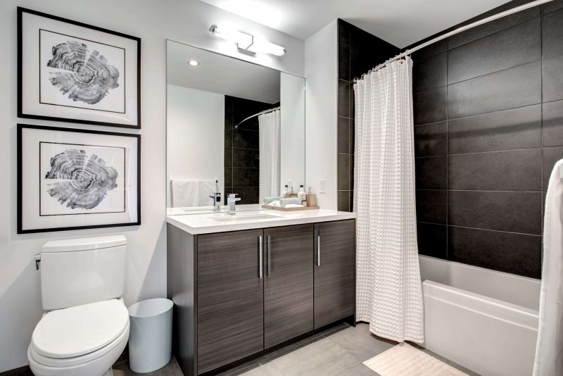 Lincoln Park Chicago Living - Xavier Apartments Bathroom